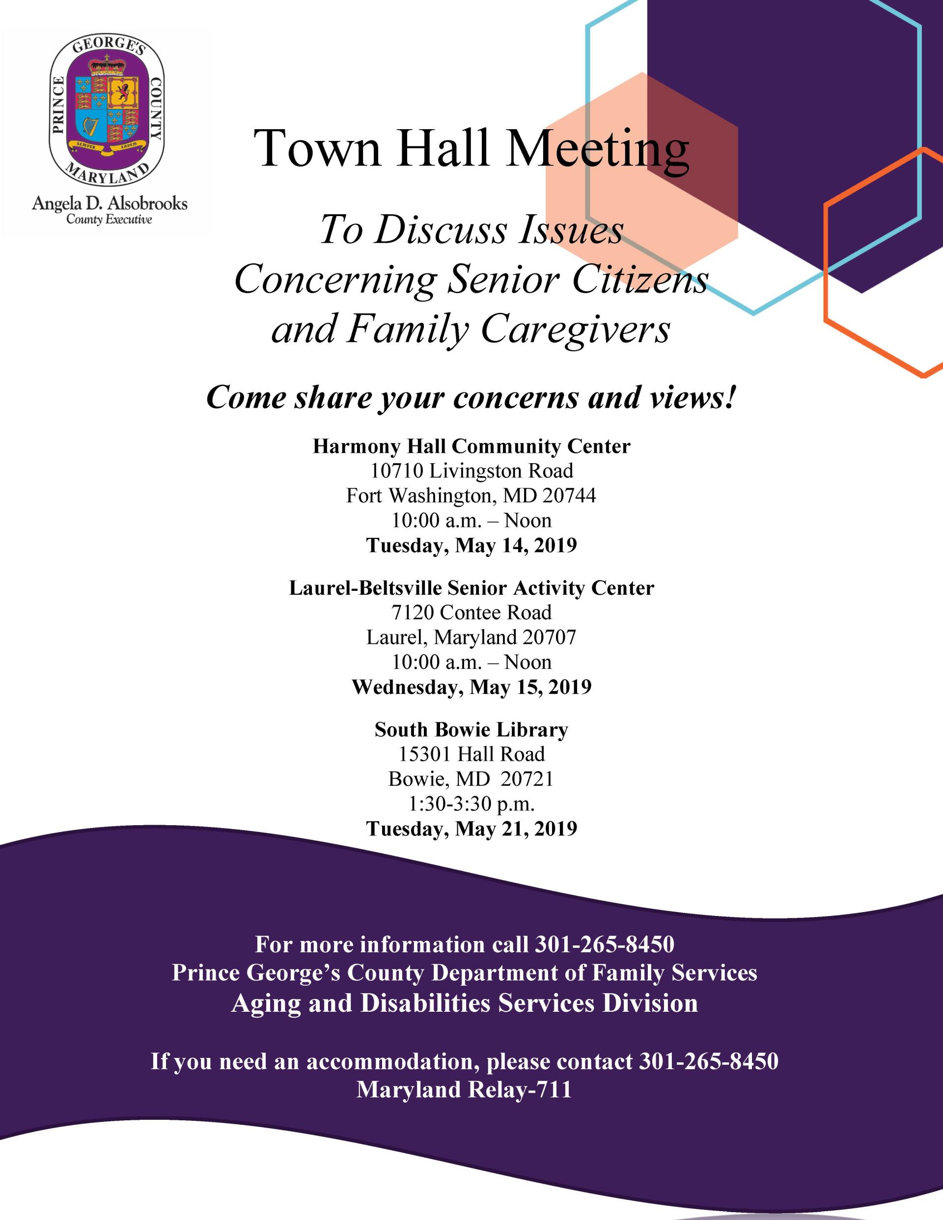 Town Hall Meeting Flyer 5-6-19