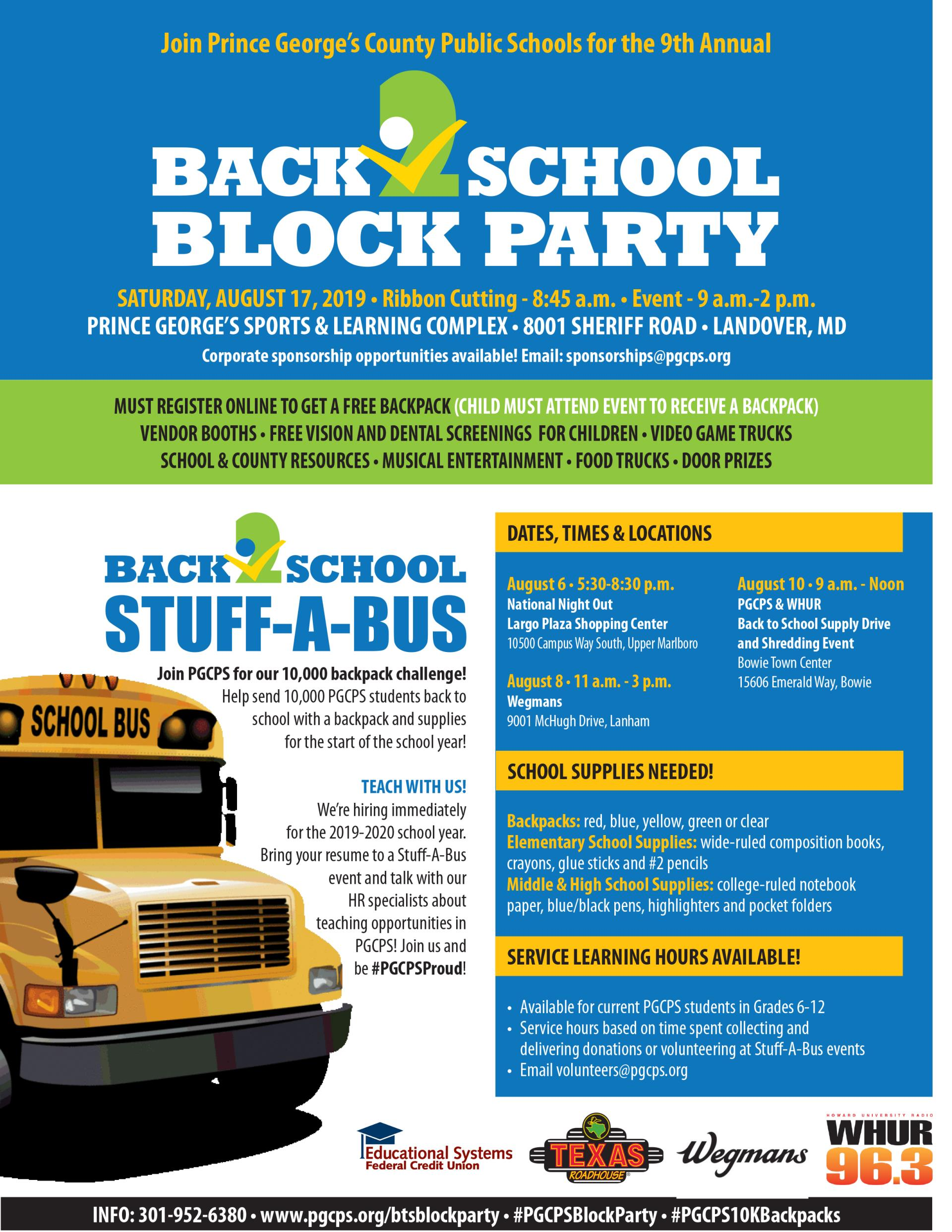 BTS Block Party - Stuff A Bus Flyer 2019 REVISED July 29