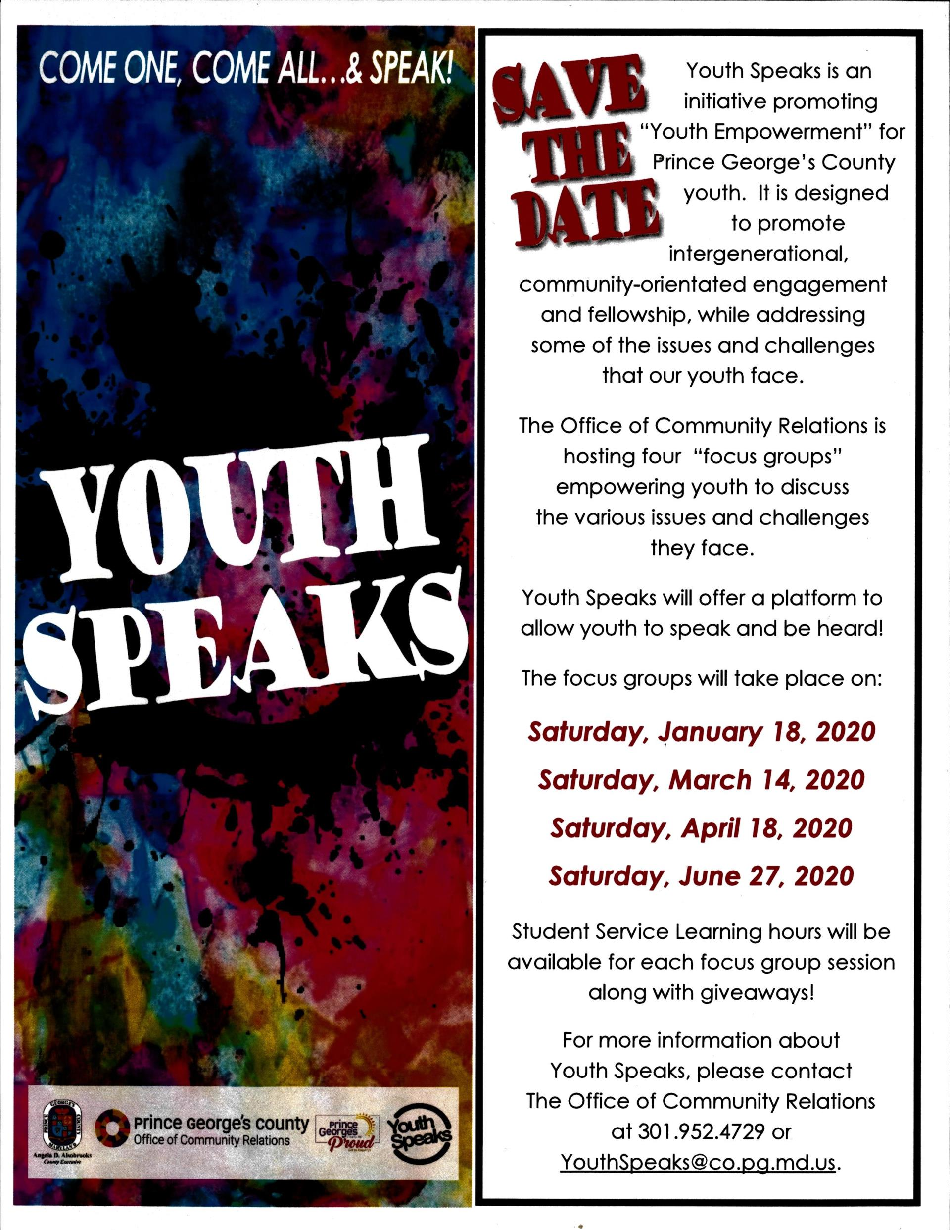 Youth Speaks 2020 Save the Date