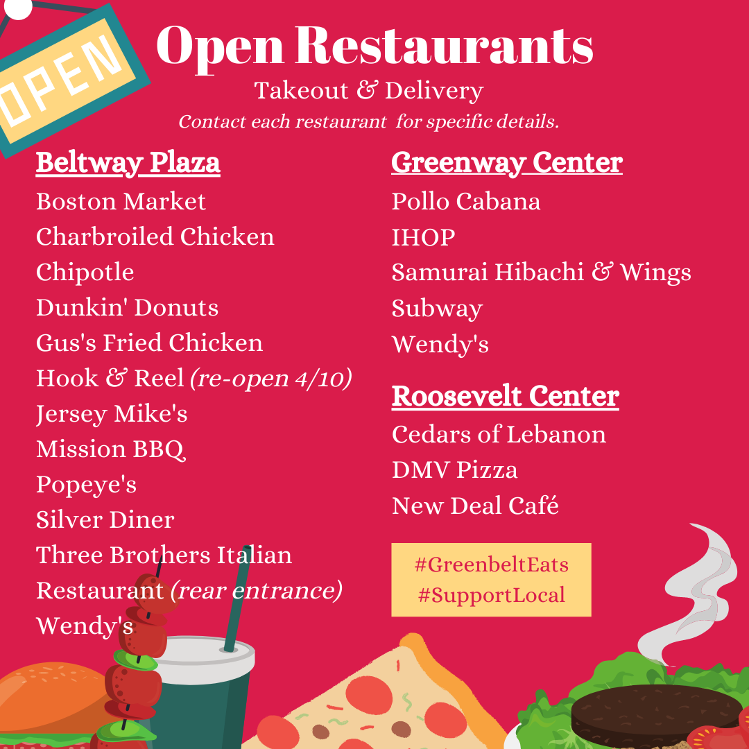 Restaurants Currently Open 4.8.20