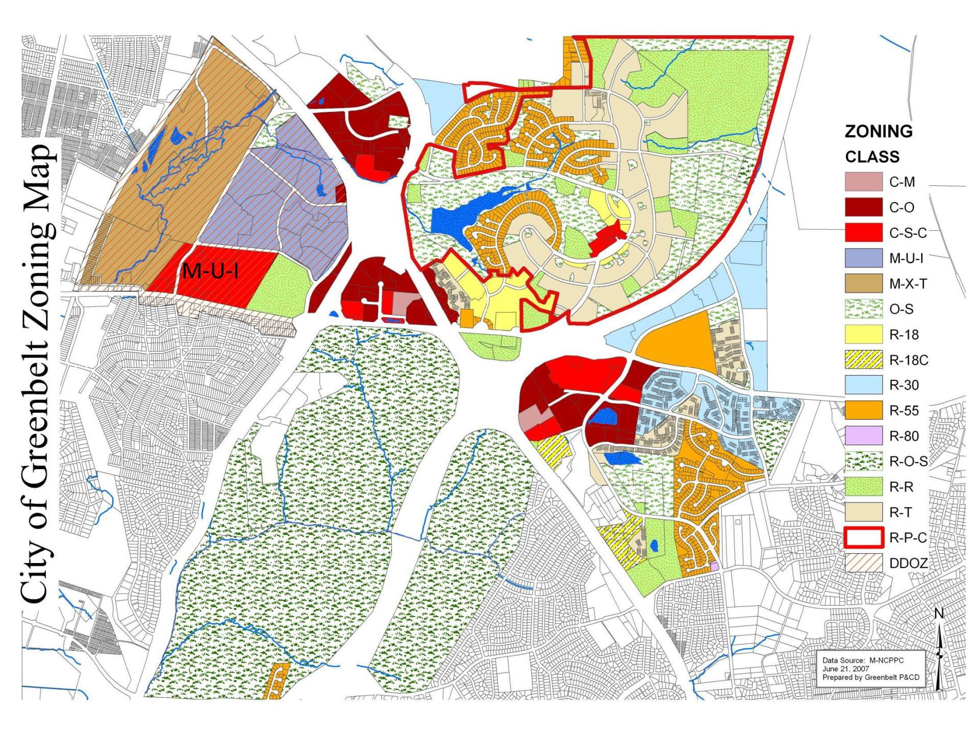 Greenbelt Zoning Map