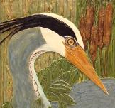 Painting of a water bird