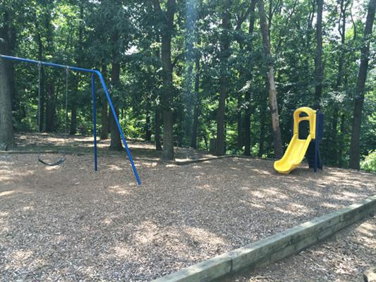 Swingset and small slide