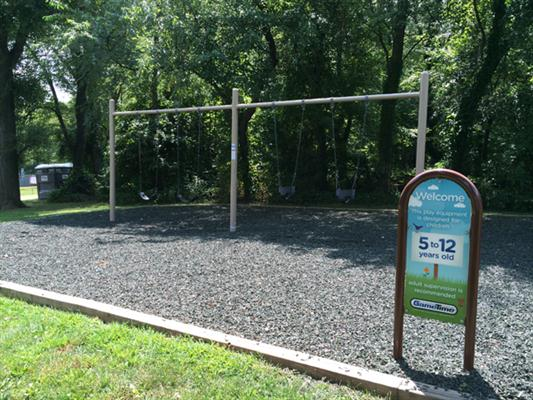 Swingsets in 5-12 playground