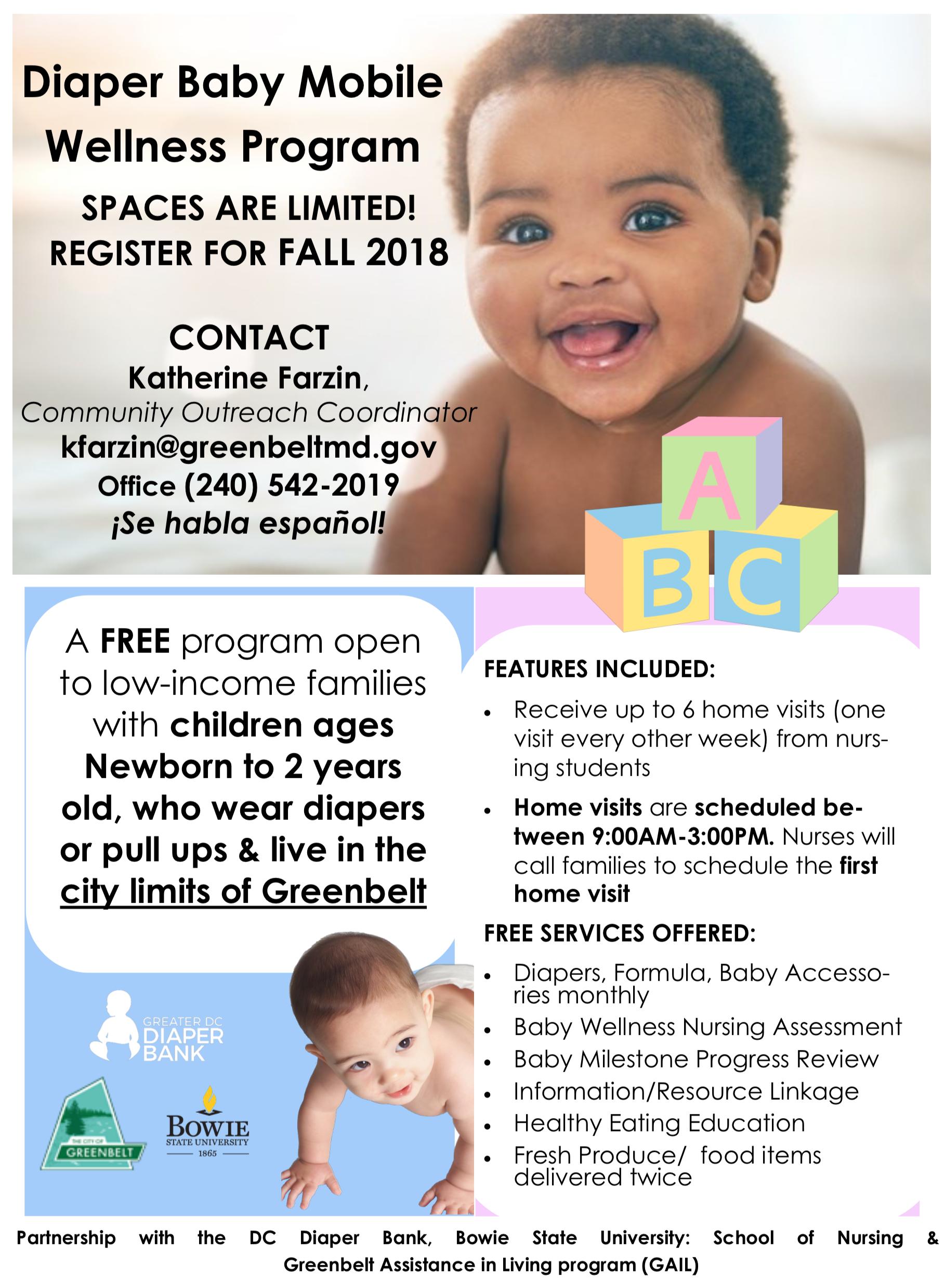 Diaper Baby Wellness Program | Greenbelt, MD