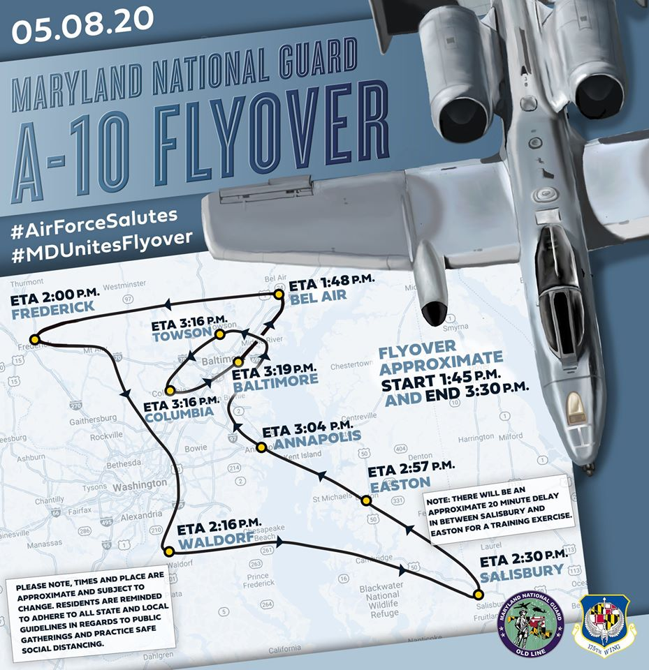 national guard flyover
